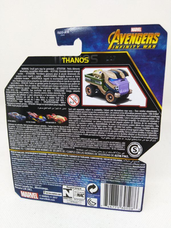 Voiture Hot Wheels - Personnage Marvel Avenger Infinities War - Thanos