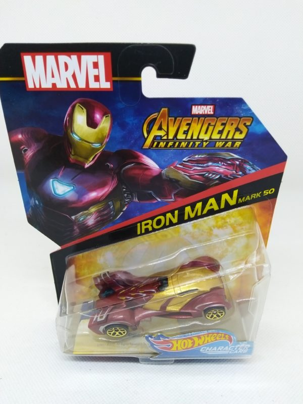 """Voiture Hot Wheels - Personnage Marvel Avenger Infinities War - Iron Man """"50"""""""