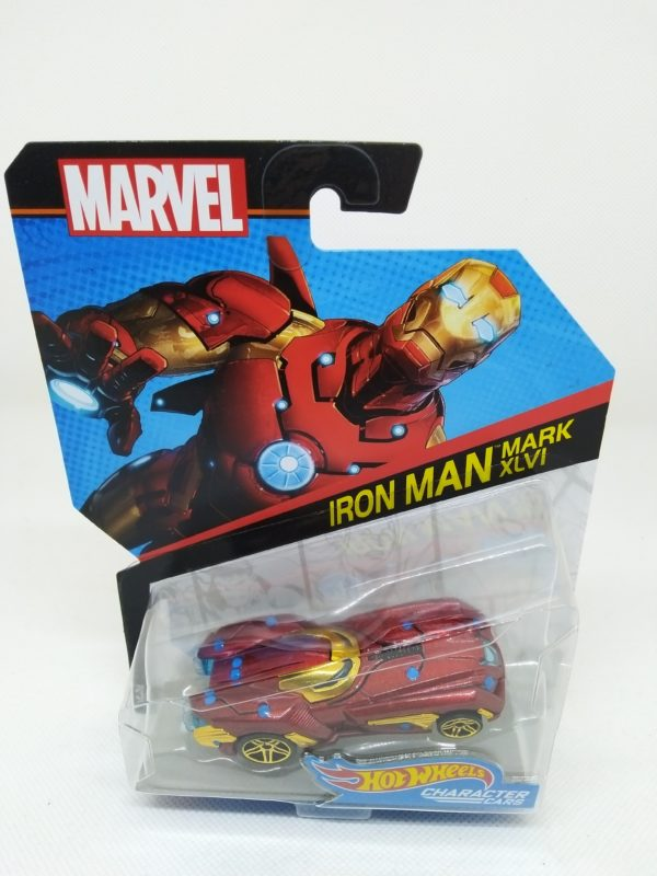 "Voiture Hot Wheels - Personnage Marvel - Iro Man ""XLVI"""
