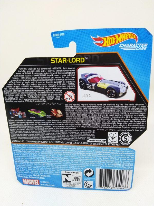 Voiture Hot Wheels - Personnage Les guardians de la galaxy vol.2 - Star Lord