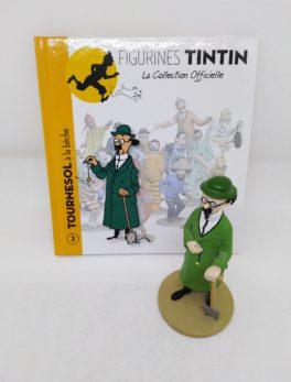 Figurine Tournesol à la bêche - Hergé Moulinsart 2011 - Le trésor de rackham le rouge