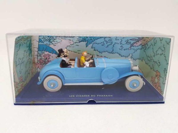 """Voiture miniature TINTIN """"Les cigares du pharaon/voiture bleu""""- 1/43 ème"""