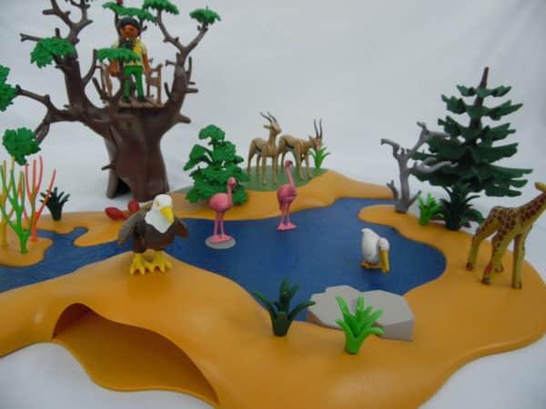 Playmobil 4827 - Poste d'observation et animaux de la savane