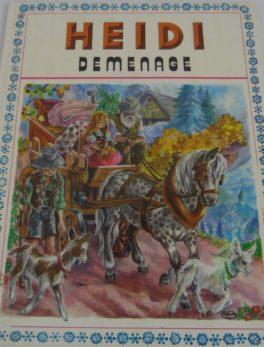 Livre Heidi - Déménage - 1974