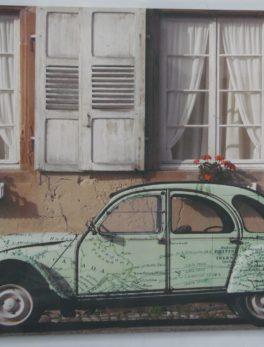 Cadre Citroën 2CV - 60X40 cm