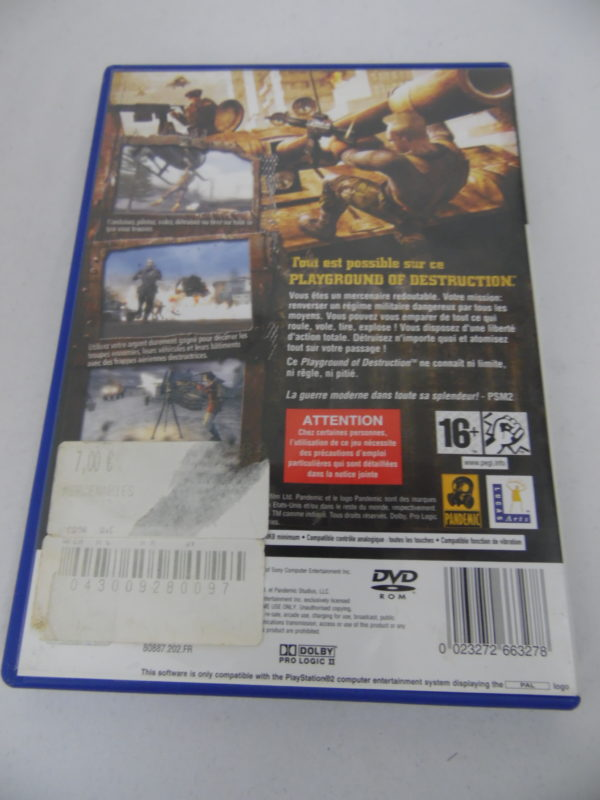 Jeu vidéo PS2 - Mercenaries - Playground of destruction