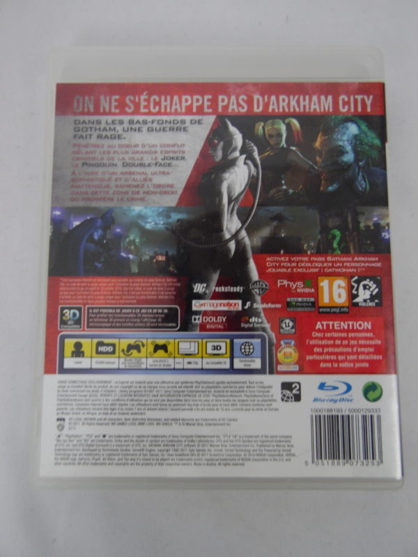 Jeu vidéo PS3 - Batman - Arkham City