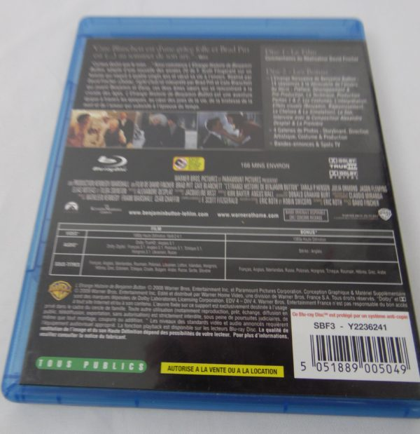 DVD Blu-Ray Benjamin Button