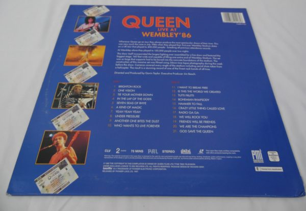Laser disc - Queen - Live at Wembley ' 86
