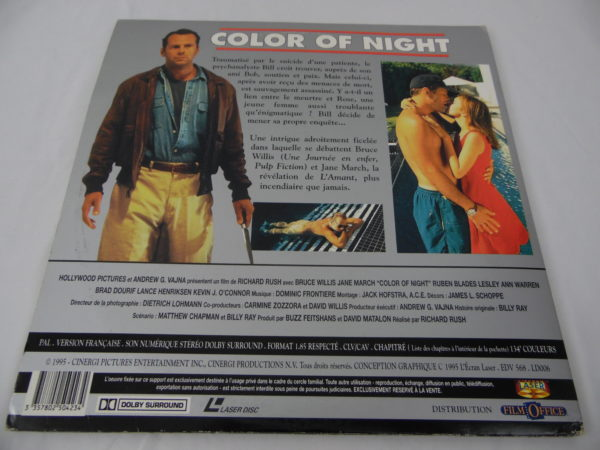 Laser disc - Color Of Night