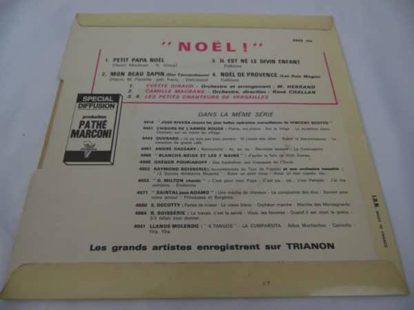 Disque vinyle - 45 T - Noël