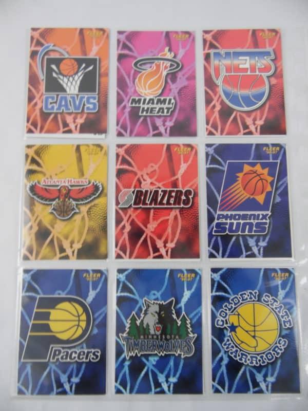 Carte de 18 club NBA - FLEER - 96/97 - Version Européen