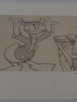 Original story sketch of Donald duck