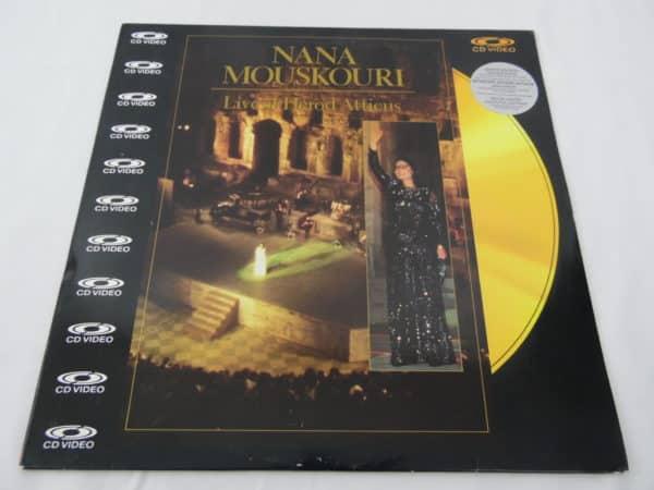 Laser disc - Nana Mouskouri - Live at Herod Atticus