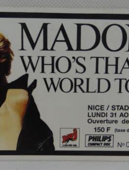 Place de concert - Madonna - 1987 - Nice stade de l'ouest
