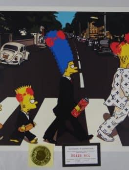 Street pop Art - Sérigraphies - Death NYC - Les Simpson / les Beatles