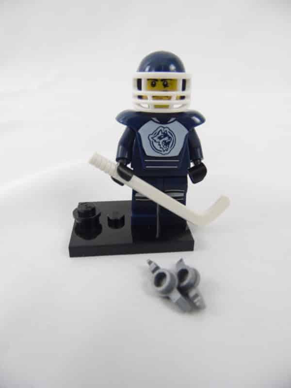 Mini figurine Lego N° 8804 - Série 4 - N°08 - Le Joueur de Hockey