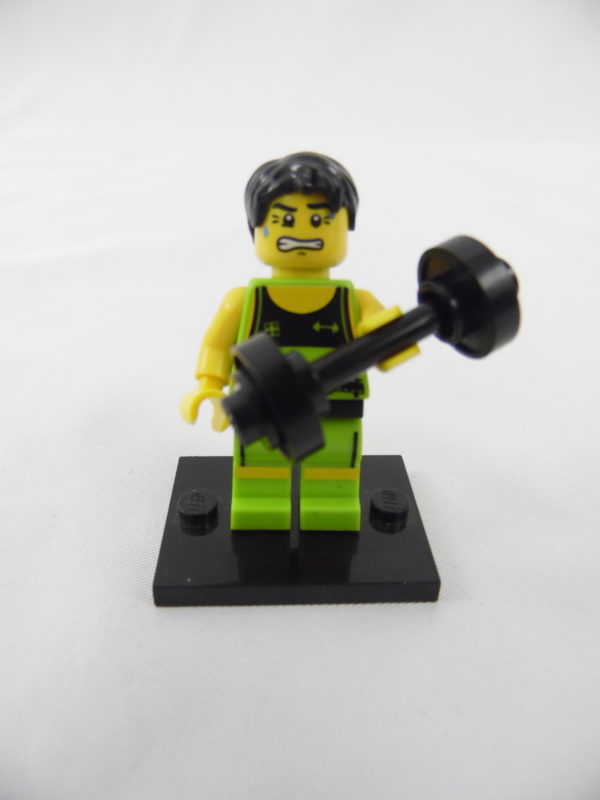 Mini figurine Lego N° 8684 - Série 2 - N°10 - L'Haltérophile