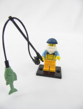 Mini figurine Lego N° 8803 - Série 3 - N°01 - Le Pêcheur