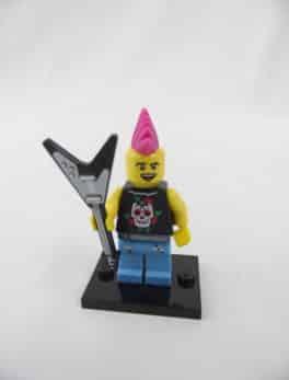 Mini figurine Lego N° 8804 - Série 4 - N°04 - Le Punk Rocker