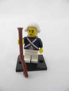 Mini figurine Lego N° 71001 - Série 10 - N°12 - Le Soldat Révolutionnaire