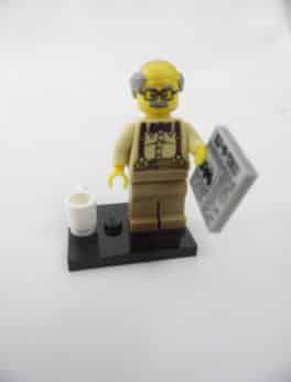Mini figurine Lego N° 71001 - Série 10 - N°08 - Le Papy