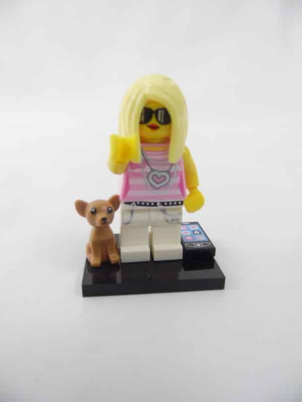 Mini figurine Lego N° 71001 - Série 10 - N°14 - La Fille Branchée