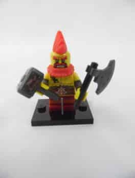 Mini figurine Lego N° 71018 - Série 17 - N°10 - Le nain de combat