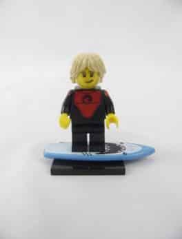 Mini figurine Lego N° 71018 - Série 17 - N°01 - Le Surfeur professionnel