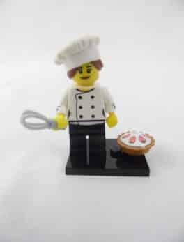 Mini figurine Lego N° 71018 - Série 17 - N°03 - Chef gastronomique