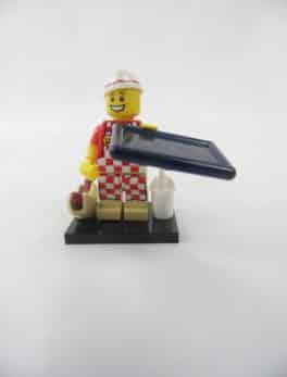 Mini figurine Lego N° 71018 - Série 17 - N°06 - Le vendeur de Hot-dogs