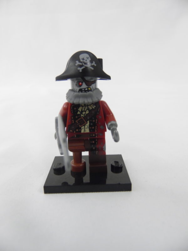 Mini figurine Lego N° 71010 - Série 14 - N°02 - Le Pirate Zombie