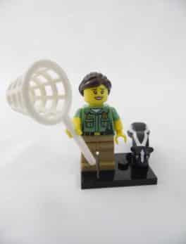 Mini figurine Lego N° 71011 - Série 15 - N°08 - L'agent de contrôle des animaux