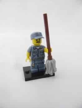Mini figurine Lego N° 71011 - Série 15 - N°09 - Le nettoyeur