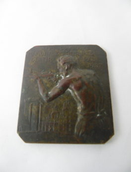 Plaque du 14 ème Concours national et international de Tir - Pau 1907