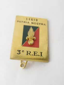 Insigne Militaire - 3 ème R.E.I. - Légion étrangère