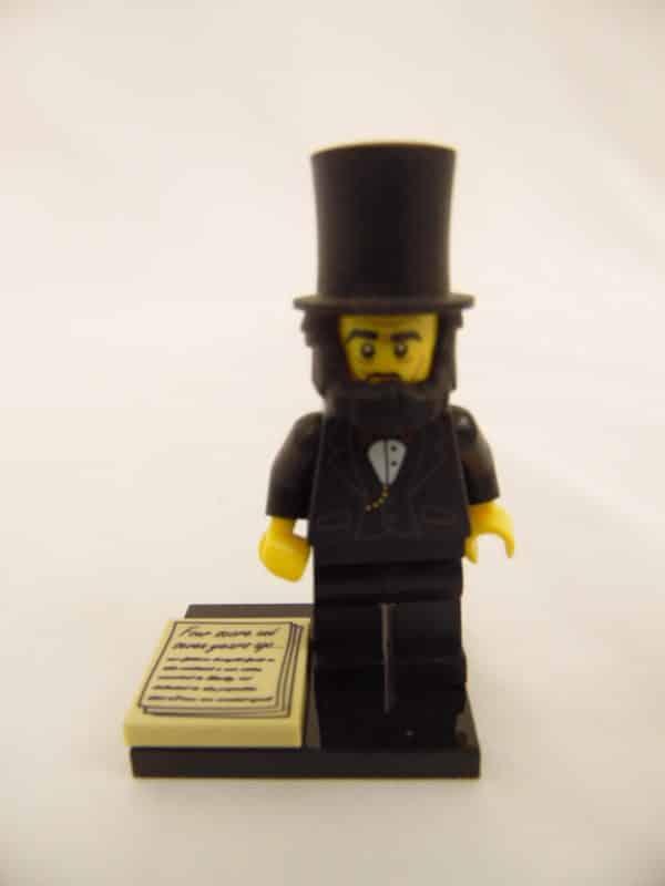 Mini figurine Lego N° 71004 - N°5 Abraham Lincoln