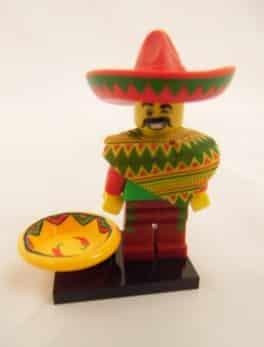 Mini figurine Lego N° 71004 - N°12 Mr Mardi Mexicano