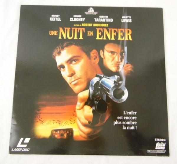 Laser disc - Une nuit en enfer - Juliette Lewis, George Clooney et Quentin Tarantino