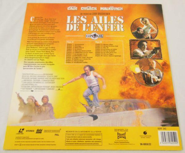Laser disc - Les ailes de l'enfer - Nicolas Cage