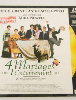 Laser disc - 4 Mariages et 1 enterrement - Hugh Grant et Andie Macdowell