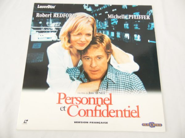 Laser disc - Personnel et confidentiel - Michelle Pfeiffer et Robert Redford