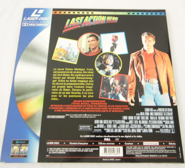 Laser disc - Last action Heros - Arnold Schwarzenegger