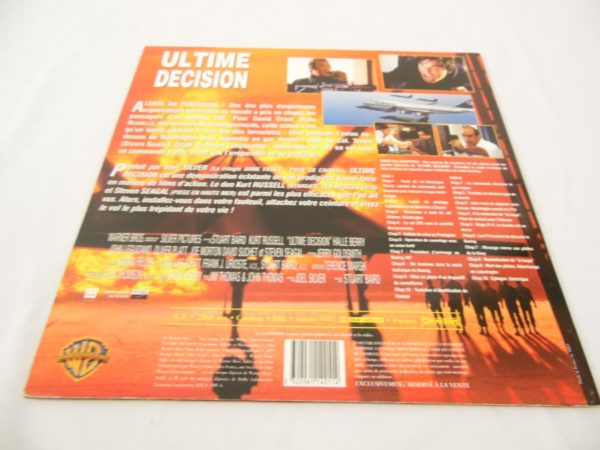 Laser disc - Ultime décision - Steven Seagal et Kurt Russell