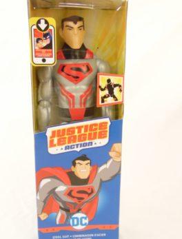 Figurine Superman- 30 cm - Justice League Action - Combinaison d'acier