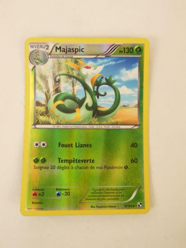 Carte Pokemon FR - Majaspic 130PV - 5/114 - Série Noir & Blanc