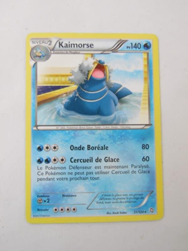 Carte Pokemon FR - Kaimorse 140PV - 31/124 - Dragon Exaltés