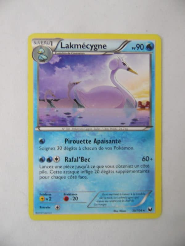 Carte Pokemon FR - Lakmécygne - 90 PV - 36/108