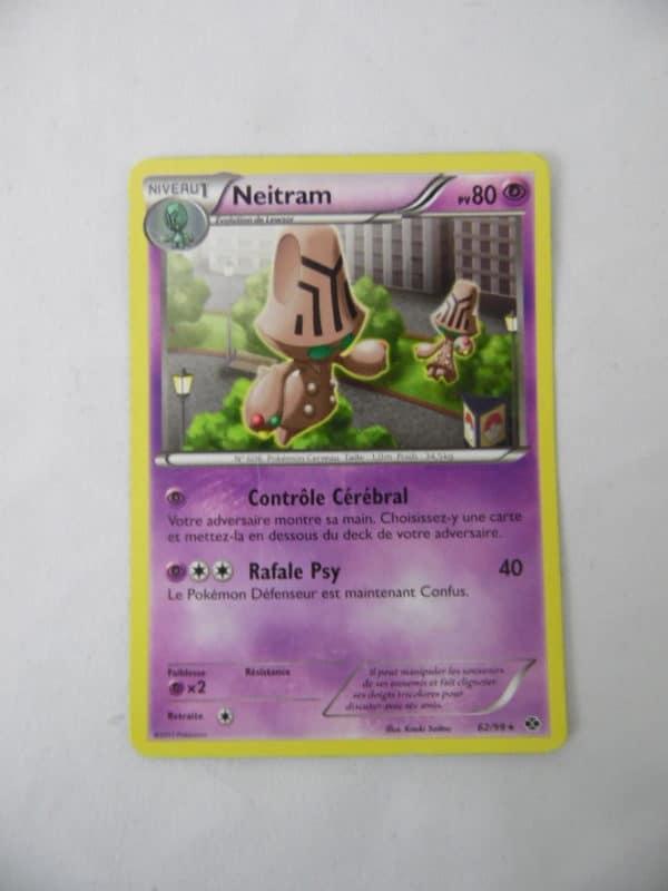 Carte Pokemon FR - Neitram 80PV - 62/99