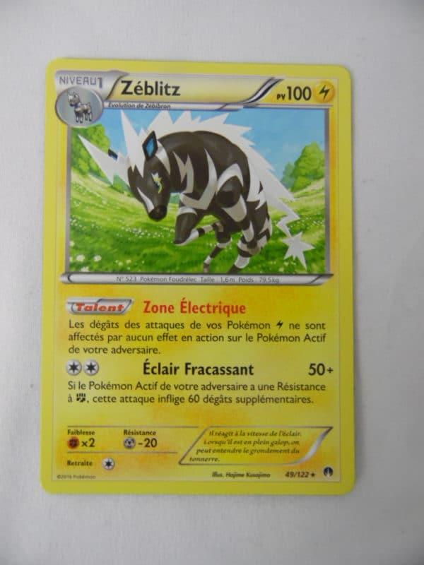 Carte Pokemon FR - Zéblitz 100PV - 49/122 - XY Rupture Turbo